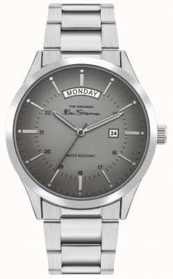 Ben Sherman Herren Edelstahl Silber Armband | graues Zifferblatt | BS022SM