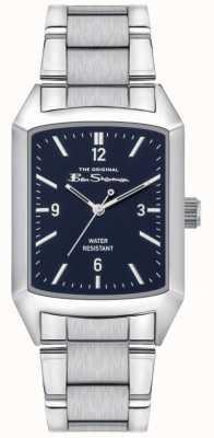 Ben Sherman Herren Edelstahl Silber Armband | blaues Zifferblatt | BS013USM