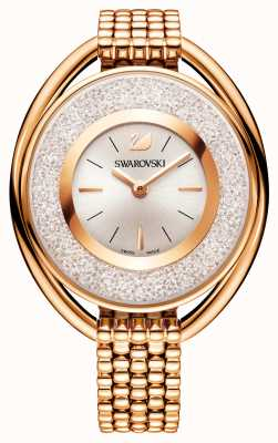 Swarovski | kristallin | oval | rosévergoldetes Armband | weißes Zifferblatt 5200341