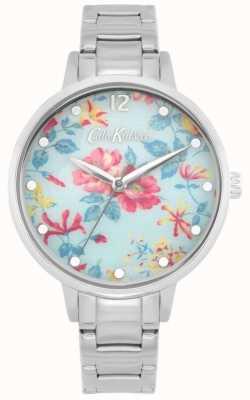 Cath Kidston Pembroke Rose | Edelstahlarmband | blaues florales Zifferblatt CKL084SM