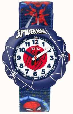 Flik Flak | Spider-Man in Aktion | blaues Textildruckband | FLSP012