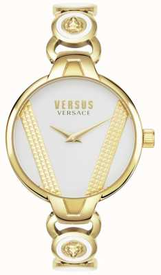 Versus Versace | Heiliger Germain | vergoldeter edelstahl | weißes Zifferblatt | VSPER0219