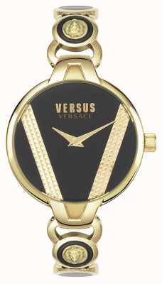 Versus Versace | Heiliger Germain | goldfarbener Edelstahl | schwarzes Zifferblatt | VSPER0319