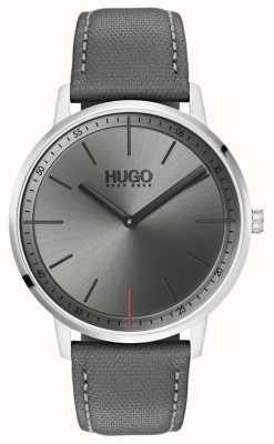 HUGO #exist | graues Lederband | graues Zifferblatt | 1520009
