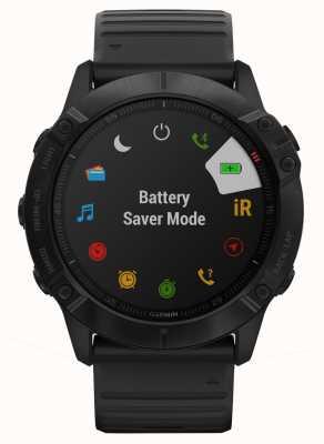 Garmin Fenix 6x pro | schwarzes Silikon | Multisport-Smartwatch 010-02157-01
