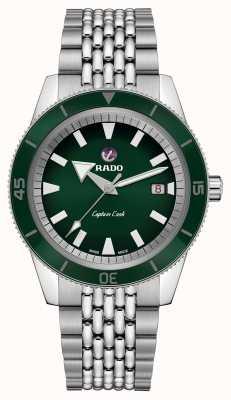 RADO Xl 'Captain Cook' Edelstahlarmband grünes Zifferblatt R32505313