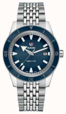 RADO Xl 'Captain Cook' Edelstahlarmband blaues Zifferblatt R32505203