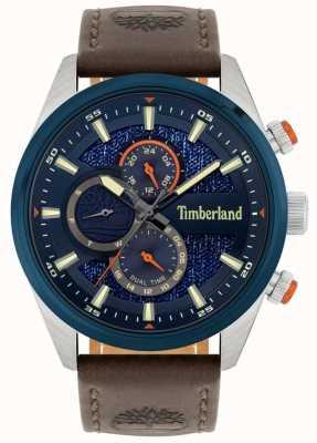 Timberland | herrenkammblick | braunes Lederband | Marinezifferblatt | 15953JSTBL/03