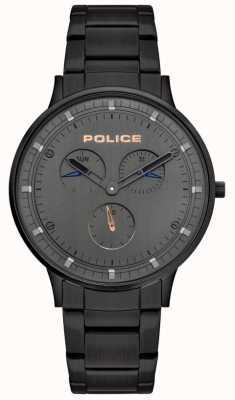Police | Herren Berkeley | schwarzes Stahlband | graues Zifferblatt | 15968JSB/39M