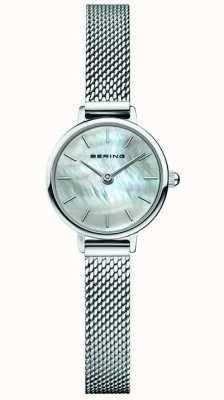 Bering | Frauenklassiker | stahlgitter armband | Perlmutt 11022-004