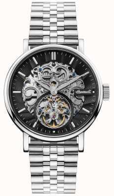 Ingersoll | die charles automatic | schwarzes skelett zifferblatt | Stahlband I05804