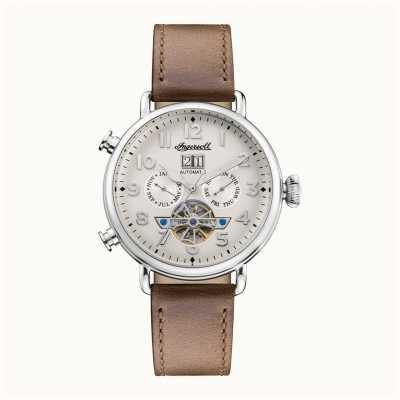 Ingersoll | die muse automatisch | braunes Lederband | weißes Zifferblatt I09502