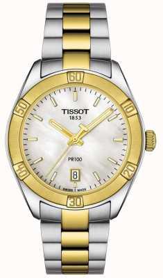 Tissot | womens pr100 sport chic | zweifarbiges Armband | T1019102211100