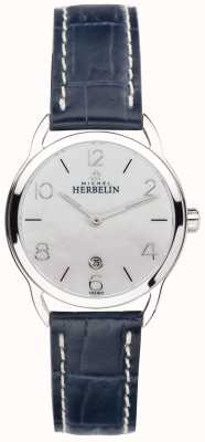 Michel Herbelin Damen Mopp Zifferblatt Edelstahl Equinoxe blaues Armband 16977/19BL
