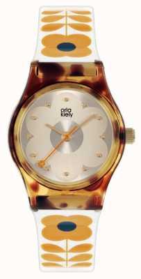 Orla Kiely Baby Bobby | Schildpatt Fall | cremefarbenes Kunststoffband OK2330