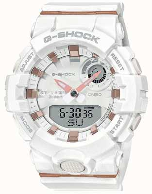 Casio | g-shock g-squad | weißes Kautschukband | Bluetooth Smart | GMA-B800-7AER