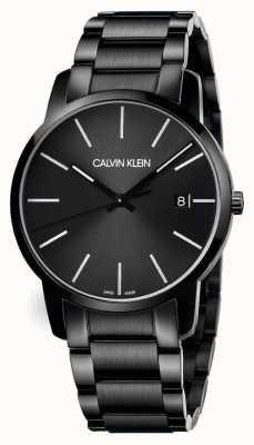Calvin Klein | Männerstadt | schwarzes edelstahl armband | schwarzes Zifferblatt | K2G2G4B1