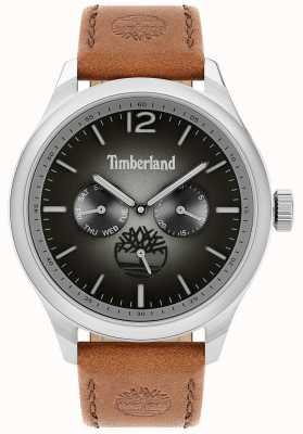 Timberland Lebensstil der Stadt | braunes Lederband | schwarzes Zifferblatt | 15940JS/13