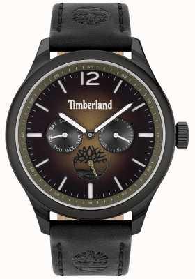 Timberland Lebensstil der Stadt | schwarzes Lederband | schwarzes Zifferblatt | 15940JSB/19