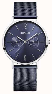 Bering | Frauenklassiker | blaues mesh armband | blaues Zifferblatt | 14236-303