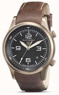 Elliot Brown Herren | canford | schwarzes Zifferblatt | braunes Lederband 202-022-L22
