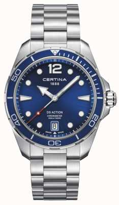 Certina | ds Aktion | Chronometer | blaues Zifferblatt C0324511104700