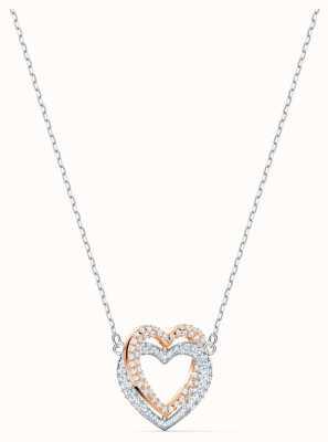 Swarovski | Unendlichkeit Herz Halskette | weiß | Mischmetallende 5518868