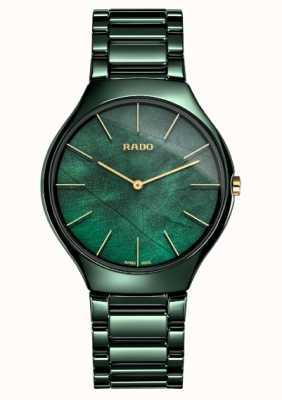 RADO Frauen | echte dünne Linie | grüne Keramik R27006912