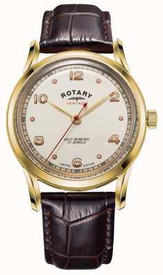 Rotary Herren | limitierte Auflage | Erbe | braunes Lederband GS05143/03