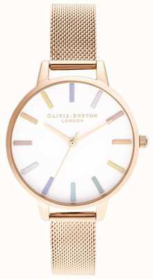 Olivia Burton | Frauen | Regenbogen | Roségold-Mesh-Armband | OB16RB24