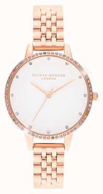 Olivia Burton | Frauen | Regenbogenlünette | Roségold Armband | OB16RB21