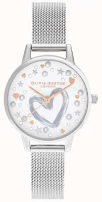 Olivia Burton Roségold & Silber Mesh-Armband OB16LH12
