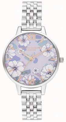 Olivia Burton Groovy Blüten Roségold & Silber Armband OB16AN05