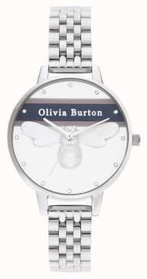 Olivia Burton | Damen | Uni-Glücksbiene | Silberarmband | OB16VS07