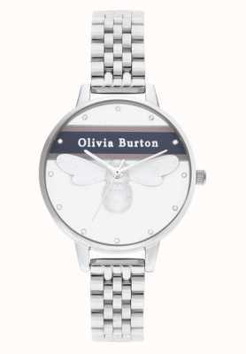 Olivia Burton | Frauen | Uni glückliche Biene | silbernes Armband | OB16VS07