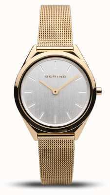 Bering | unisex | ultraflach | goldgeflecht armband | 17031-344
