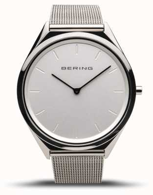 Bering | unisex | ultraflach | Armband aus poliertem Silbergeflecht | 17039-000