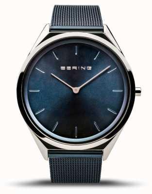 Bering | unisex | ultraflach | blaues mesh armband | 17039-307