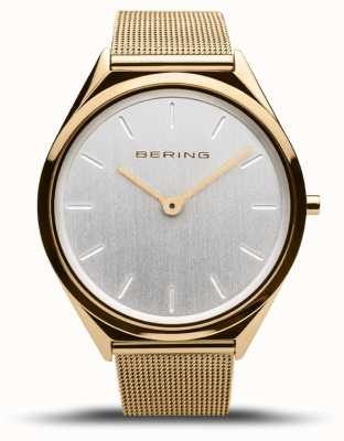 Bering | unisex | ultraflach | goldgeflecht armband | 17039-334