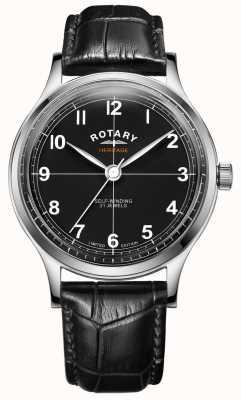Rotary Erbe in limitierter auflage für herren | schwarzes Lederband | GS05125/04