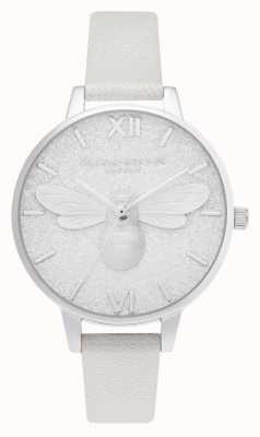 Olivia Burton | Glitzer-Halbzifferblatt | Perlbiene schimmern Uhr | OB16FB20