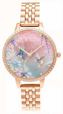 Olivia Burton Sparkle Kolibri Roségold Armband OB16PP60
