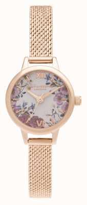 Olivia Burton Mini Blüten Mini Zifferblatt Roségold Armband OB16EG156