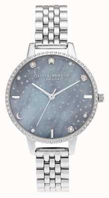 Olivia Burton Nachthimmel Demi Zifferblatt Silber Armband OB16GD65