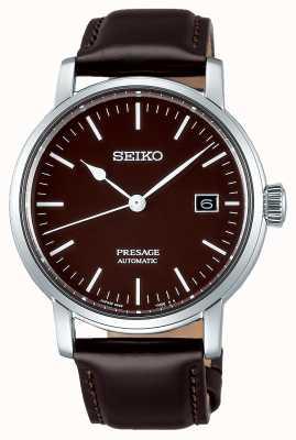 Seiko | presage Männer mechanisch | braunes Leder | braunes Armband SPB115J1