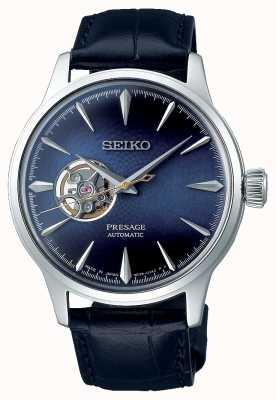 Seiko Presage Herren mechanisch   blaues Kalbsleder   SSA405J1