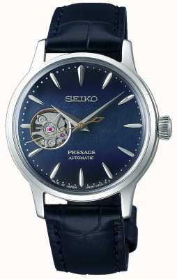 Seiko | Presage Ladies Mechanical | blaues Kalbsleder | blaues Zifferblatt SSA785J1