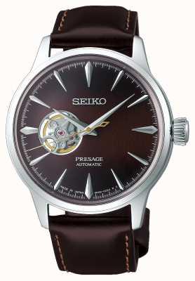 Seiko Presage Herren mechanisch | braunes Kalbslederarmband | SSA407J1