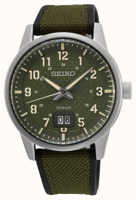 Seiko Konzeptionelle Herren Quarz Khaki Grün SUR323P1