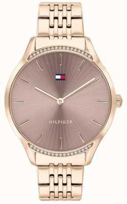 Tommy Hilfiger | Frauengrau | roségold ionenbeschichtetes Armband | graues Zifferblatt 1782212